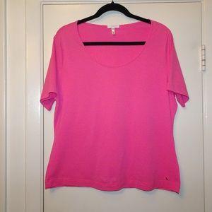 Escada T-Shirt | Hot Pink | EUC | XL (46)